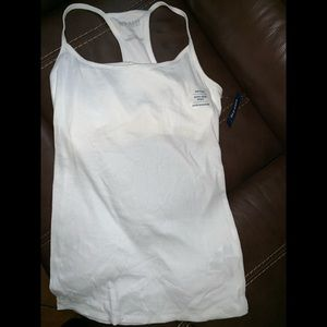 Old Navy white Tank Top with built-in Bra